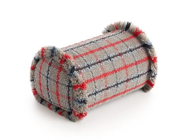 Roll tartan outdoor polypropylene cushion GARDEN LAYERS BLUE | Roll cushion