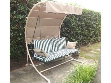 Balancín de jardín 2 plazas de hierro forjado Garden swing seat 7