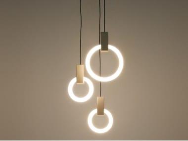 Aluminium pendant lamp HALO