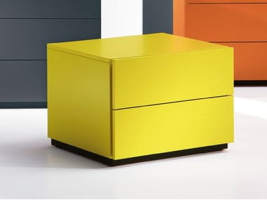 Rectangular bedside table with drawers HARU | 45 cm