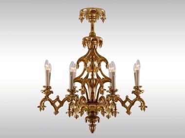 Classic style gold leaf chandelier HISTORISTISCHER LUSTER LAXENBURGER GOTIK