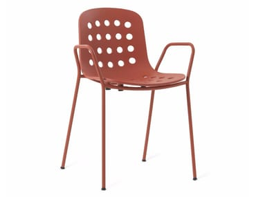Classic style metal garden chair with armrests HOLI | Chair with armrests