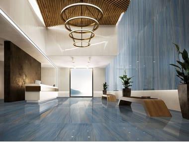 Pavimento/rivestimento in gres porcellanato effetto marmo I MARMI AZUL MACAUBA