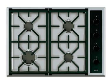 Piano cottura a gas da incasso in acciaio inox ICBCG304T/S TRANSITIONAL | Piano cottura