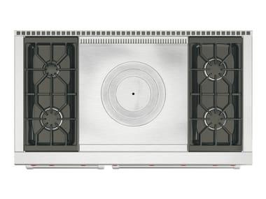 Cuisinière professionnelle en acier inoxydable ICBDF484/486 | Cuisinière