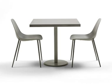 Table carrée en acier ILTAVOLO CAFFÉ
