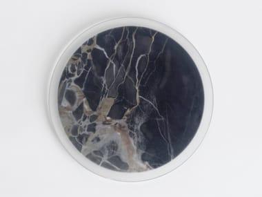 Marble plate / centerpiece IMPRONTE - NERO PORTORO PORTOVENERE