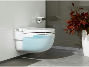 Close coupled wall-hung ceramic toilet IN-TANK MERIDIAN | Wall-hung toilet