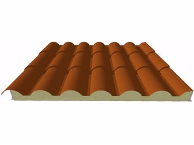 Insulated metal panel for roof