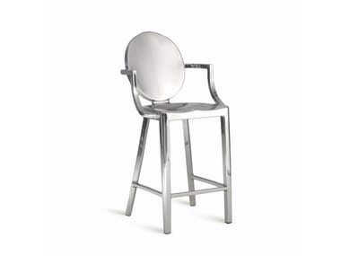 Aluminium chair with armrests KONG | Chair
