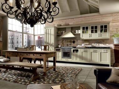 Cucina componibile in legno massello KREOLA - COMPOSIZIONE 04