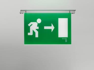 Luminaire de sécurité LED en polycarbonate à encastrer LEB | Luminaire de sécurité à encastrer