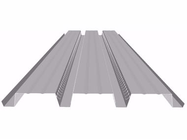 Corrugated and undulated sheet steel LG75