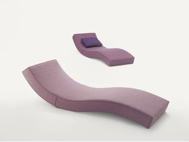 Fabric lounge chair LINEA