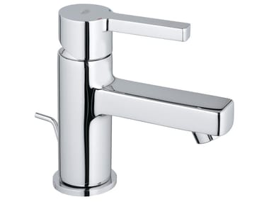 Countertop single handle washbasin mixer with pop up waste LINEARE SIZE XS | Washbasin mixer