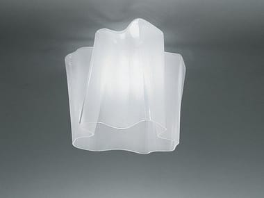 Halogen blown glass ceiling lamp LOGICO | Ceiling lamp