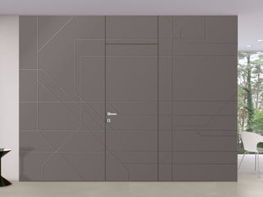 Flush-to-the-wall doors
