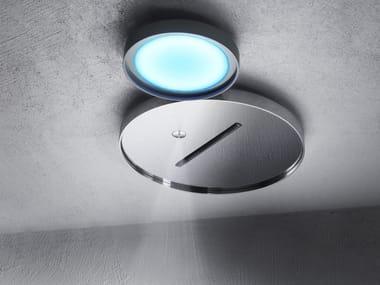 Ceiling mounted 2-spray overhead shower with built-in lights NINFEA | Mist spray overhead shower