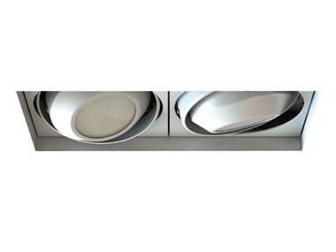 LED adjustable recessed aluminium spotlight MOVE CARDANIC | Rectangular spotlight