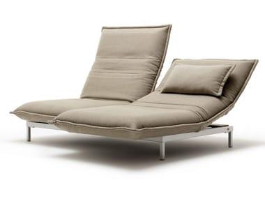 Chaise longue en tissu NOVA | Chaise longue en tissu