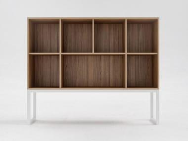 Librería de oficina de chapada en madera O7