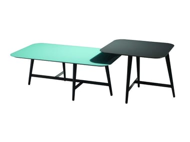 Lacquered modular square coffee table OCTET