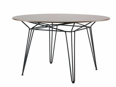 Round HPL garden table PARISI | HPL table