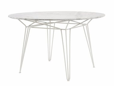 Round marble garden table PARISI | Marble table