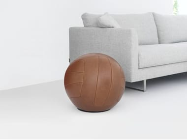 Upholstered leather stool PLAYTIME