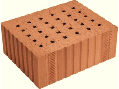Loadbearing clay block for reinforced masonry Porotherm Sonico