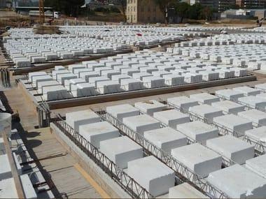 Cubierta prefabricada de hormigón Single reinforced concrete slab