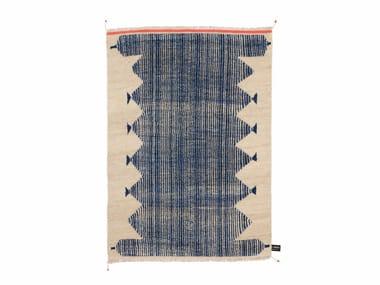 handmade rectangular rug primitive weave 4 cc tapis - Tapis Color Fly