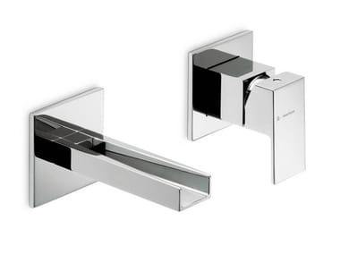 Miscelatore per lavabo a 2 fori a muro monocomando ERGO OPEN | Miscelatore per lavabo a 2 fori
