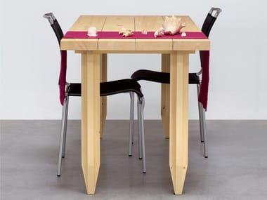 Rectangular solid wood table LAPIX
