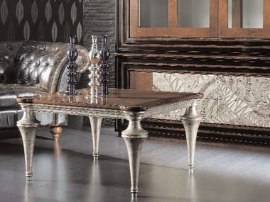 Square Silver Leaf Coffee Table ÉTOILE DAY | Coffee Table