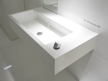 Wall-mounted Corian® washbasin AIS