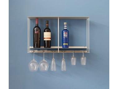 Botellero / Elemento de pared de aluminio Cantinetta