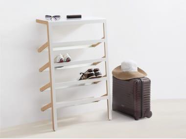 Scarpiera in acciaio e legno MILA By MOX design Yuniic Design