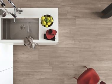 Porcelain stoneware flooring with wood effect WOODLIVING