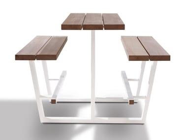 Tavolo da picnic alto con panchine integrate BEER TABLE