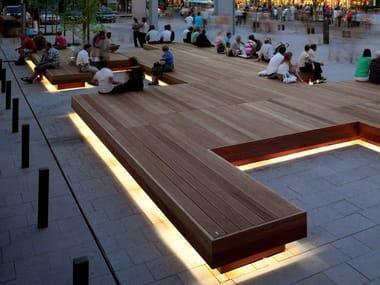 Panchina in legno senza schienale HARRIS ISOLA | Panchina
