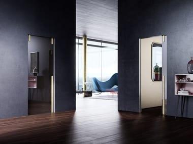 Pocket sliding door en crystal Pocket Door Glass Panel Version