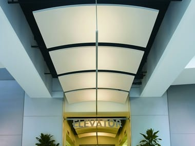 Acoustic ceiling clouds OPTIMA CANOPY CURVED