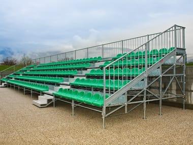 Sistema modulare metálico para palcos y tribunas MARATHON 5 RANGÉES