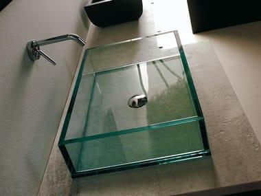 lavabo sobre encimera rectangular de vidrio compos lavabo rectangular
