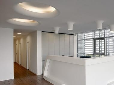 Indirect light recessed ceiling lamp USO 1400