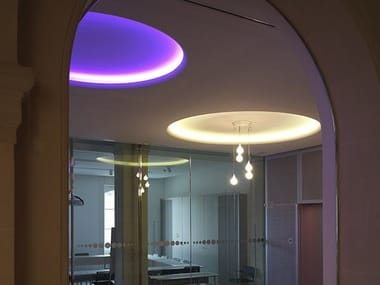 Indirect light fluorescent recessed ceiling lamp USO 2500 COVE LIGHTING