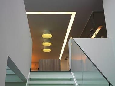 Perfil para iluminación lineal para fijación al techo USP 02 08 12 / 02 16 12
