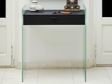 Table console en verre avec tiroirs ZEN 13 | Table console