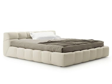 Upholstered fabric storage bed TUFTY BED